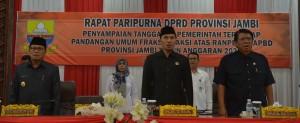 DPRD Gelar Paripurna Penyampaian Tanggapan Pemerintah Terhadap Ranperda ABPD 2020