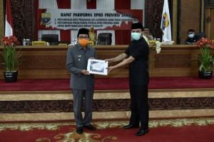 DPRD Gelar Paripurna Penyampaian Nota Pengantar LKPJ Gubernur Jambi Tahun 2019