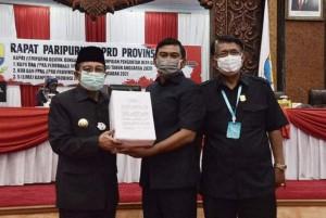 DPRD Provinsi Gelar Paripurna Tentang Penyampaian  Nota Pengantar Perubahan APBD 2020 dan 5 Ranperda