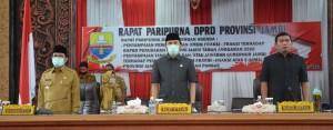 DPRD Sampaikan Pemandangan Umum terhadap RAPBD Perubahan Provinsi Jambi 2020